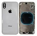 Крышка задняя iPhone XS с рамкой Silver, фото 2