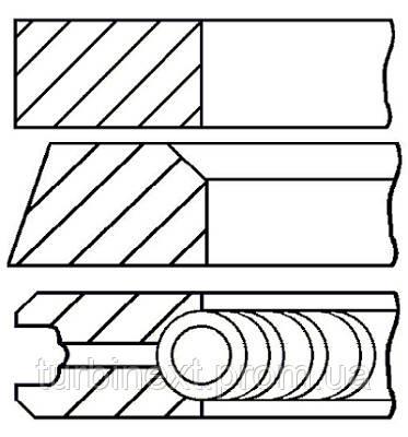 Кольца поршневые OPEL 91.98 (2/2/4) 2.3D GOETZE 08-305400-10