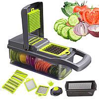 Ручная овощерезка Nicer Dicer Fusion для быстрой нарезки овощей фруктов приготовления блюд с лотком