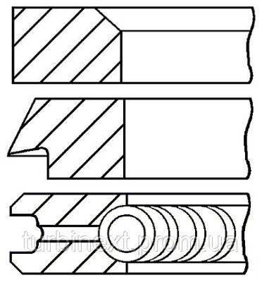 Кольца поршневые VW 75.0 (1.75/2/3) 1.0/1.3 2G/AAV GOETZE 08-406200-00