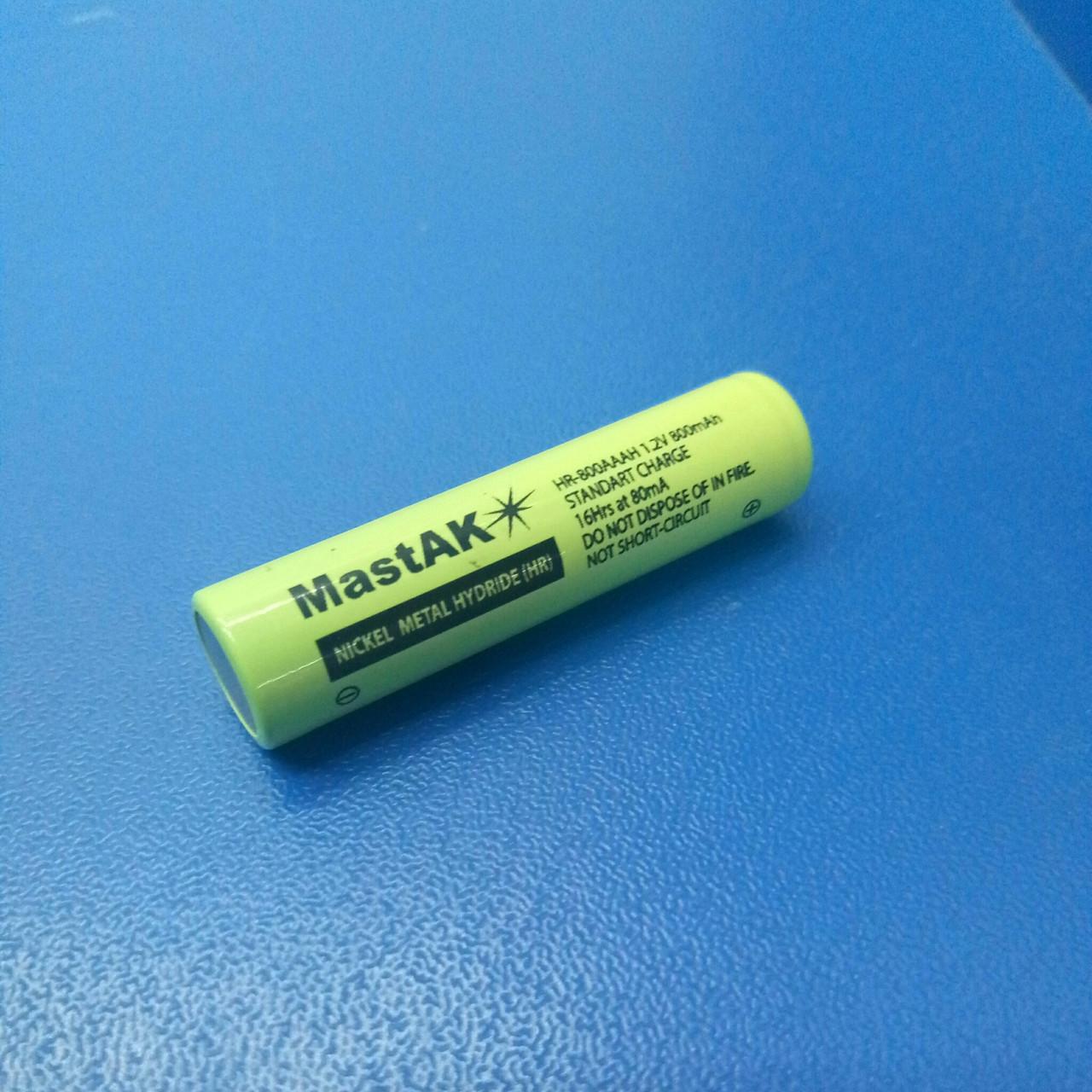 Аккумулятор технический MastAK HR-800 AAA ( 1,2V 800mAh MH )