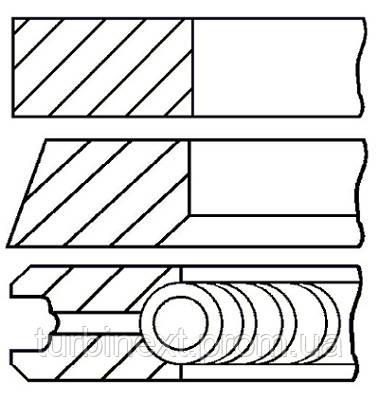 Кольца поршневые VAG 80.0 (1.75/2/3) 1.9D/TD GOETZE 08-990107-00