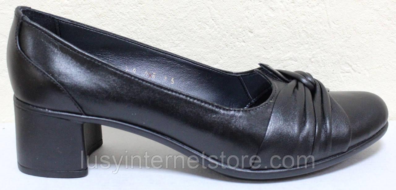 Туфли женские кожаные на каблуке от производителя модель БМ52К