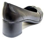 Туфли женские кожаные на каблуке от производителя модель БМ52К, фото 5