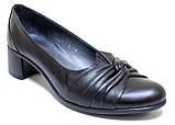 Туфли женские кожаные на каблуке от производителя модель БМ52К, фото 2