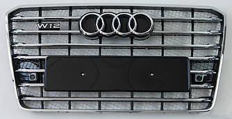 Решетка радиатора Audi A8 D4 (14-17) рестайлинг стиль W12