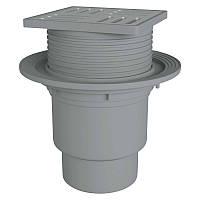 Трап ANI Plast TA1712 вертикальный, регулируемый  выпуск 110 мм с нержавеющей решеткой 15x15 см
