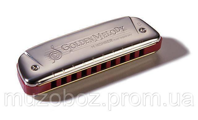 Губная гармошка Hohner Golden Melody F, фото 2