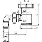 """Отвод ANI Plast М110 для стиральной машины 1 1/2""""x1 1/2"""", фото 2"""