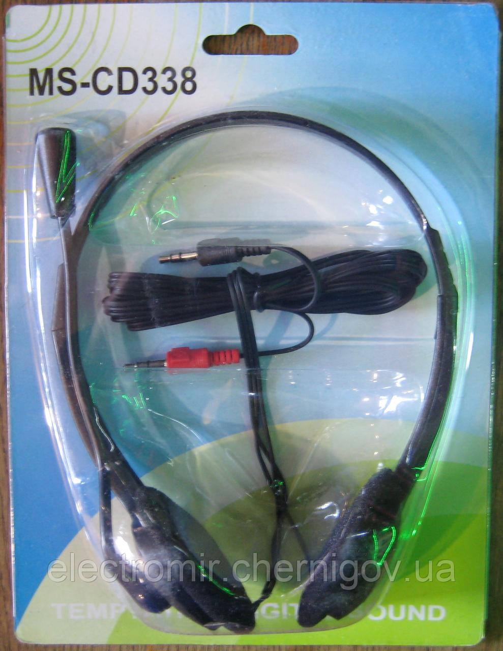 Наушники компьютерные с микрофоном MS-CD338 (чёрный)