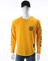 Свитшот желтый OFF-WHITE №6, рис на рукавах YEL L(Р) 20-518-201-003