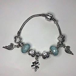 Браслет ніжно блакитний з крилами SKL11-238148