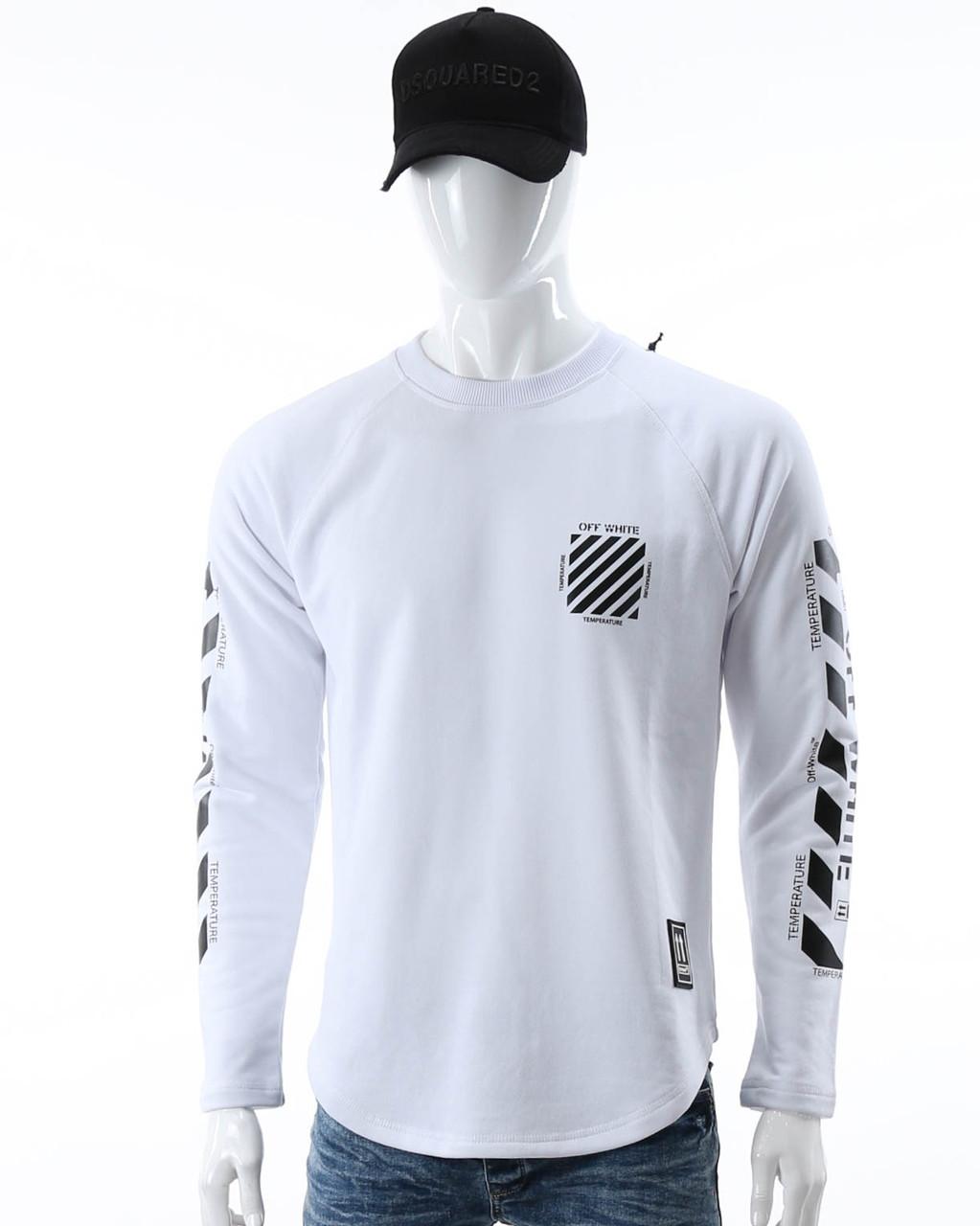 Свитшот белый OFF-WHITE №6, рис на рукавах WHT L(Р) 20-518-201-003