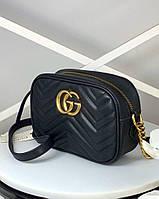 Черная кожаная сумочка  Гуччи (реплика), фото 1