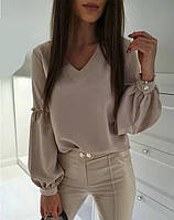 Модная женская блузка с широкими рукавами 5 цветов