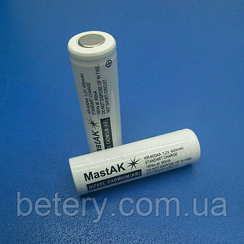 Акумулятор технічний MastAK KR-600 AA ( 1,2 V 0,6 Ah Cd )