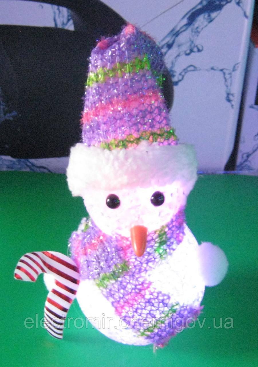Нічник - ялинкова іграшка Сніговик