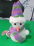 Нічник - ялинкова іграшка Сніговик, фото 2