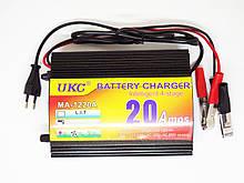 Зарядное для автомобильного аккумулятора 12А 20А Ukc