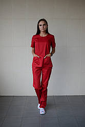 Медицинский женский костюм Красный