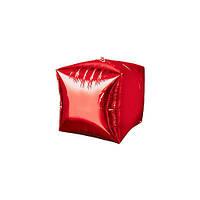Шар куб. Цвет красный.  Ширина ребра 33 см.