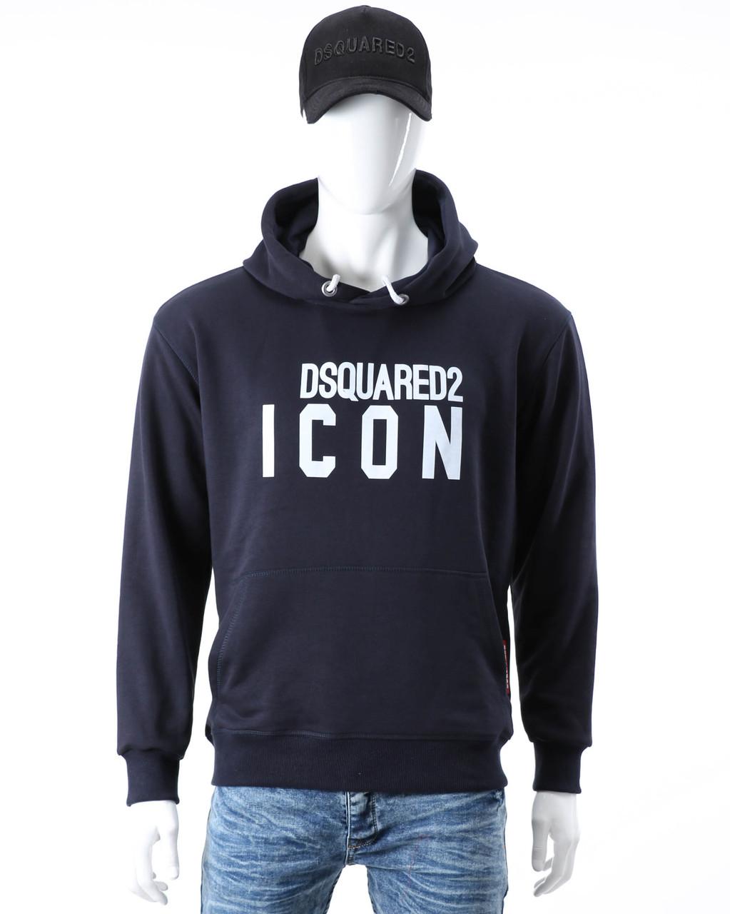 """Худи т синий DSQUARED """"ICON"""" Т-2 DBLU L(Р) 20-567-201-001"""