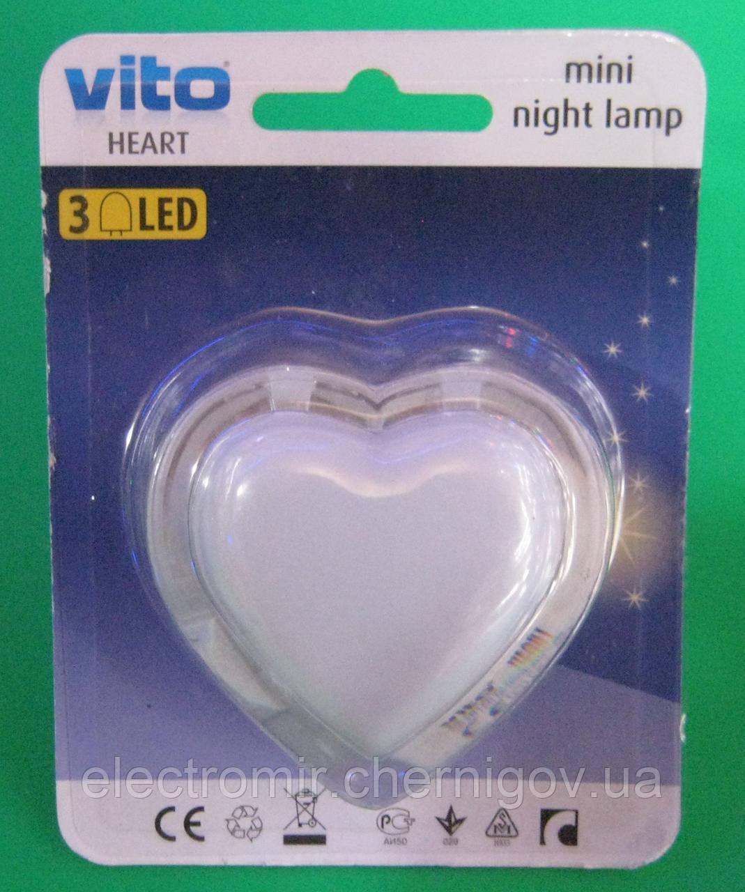 Нічник Vito (серце)