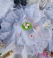 Праздничная красивая детская салфетка на пасхальную корзину, фото 1