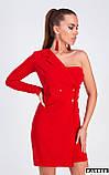 """Платье-пиджак Karree """"Авиньон"""" женственное с одним рукавом (черный, р.L), фото 7"""