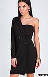 """Платье-пиджак Karree """"Авиньон"""" женственное с одним рукавом (черный, р.L), фото 2"""