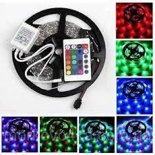 Цветная светодиодная лед лента с влагозащитой + контроллер + адаптер + пульт 5050 RGB 5м полный комплект