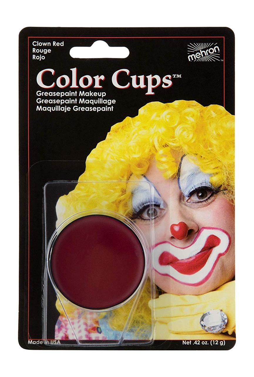 MEHRON Кремовый грим Color Cups, Red (Красный), 12 г