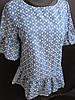 Красивые блузи с широкой оборкой по низу и на рукавах