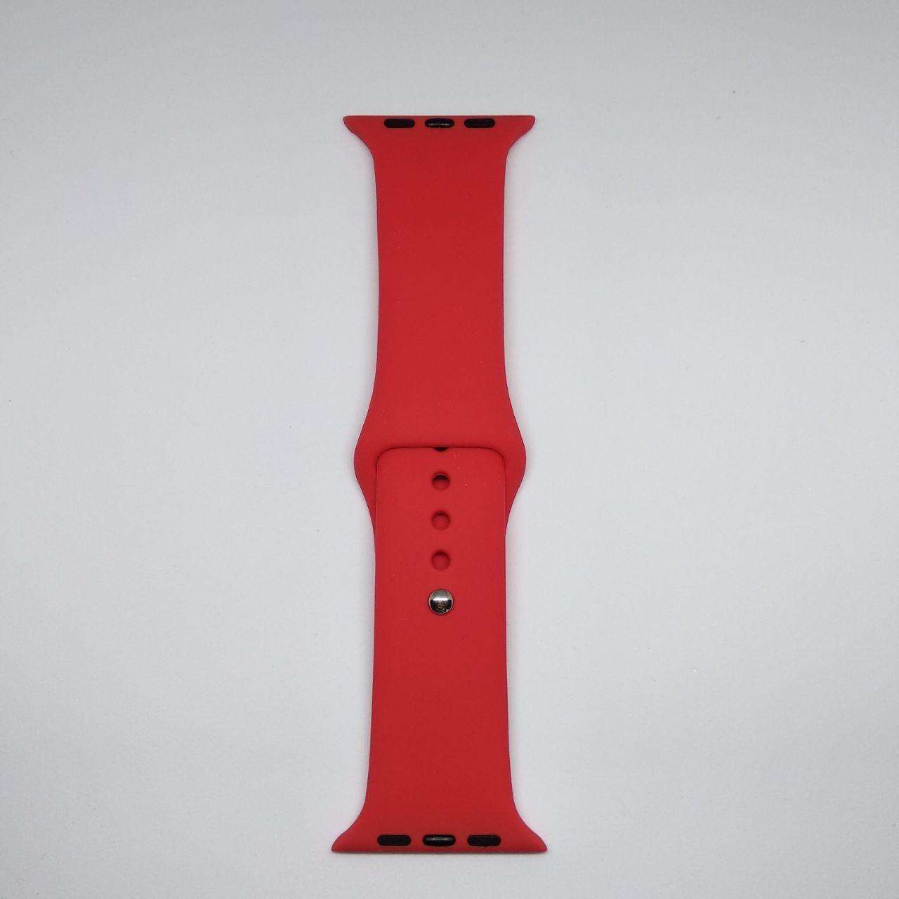 Ремешок Apple Watch 42mm S/M silicone Red