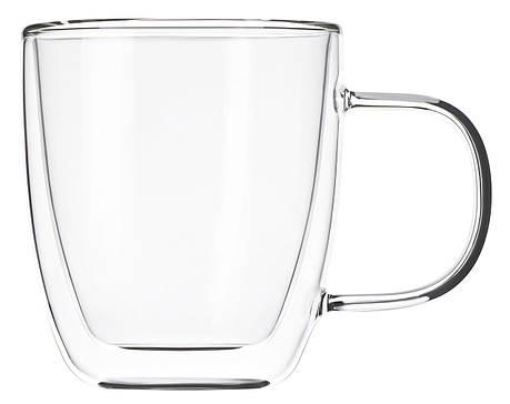 Набір чашок Ardesto 310 мл 2 шт. З подвійними стінками для лате Скло (AR2631GH), фото 2