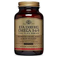 Омега 3-6-9, 1300 мг, Solgar, 60 желатиновых капсул
