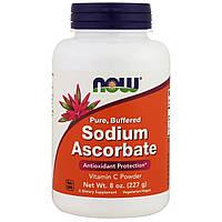 Аскорбат натрия, Now Foods, Sodium Ascorbat, порошок, 227 г