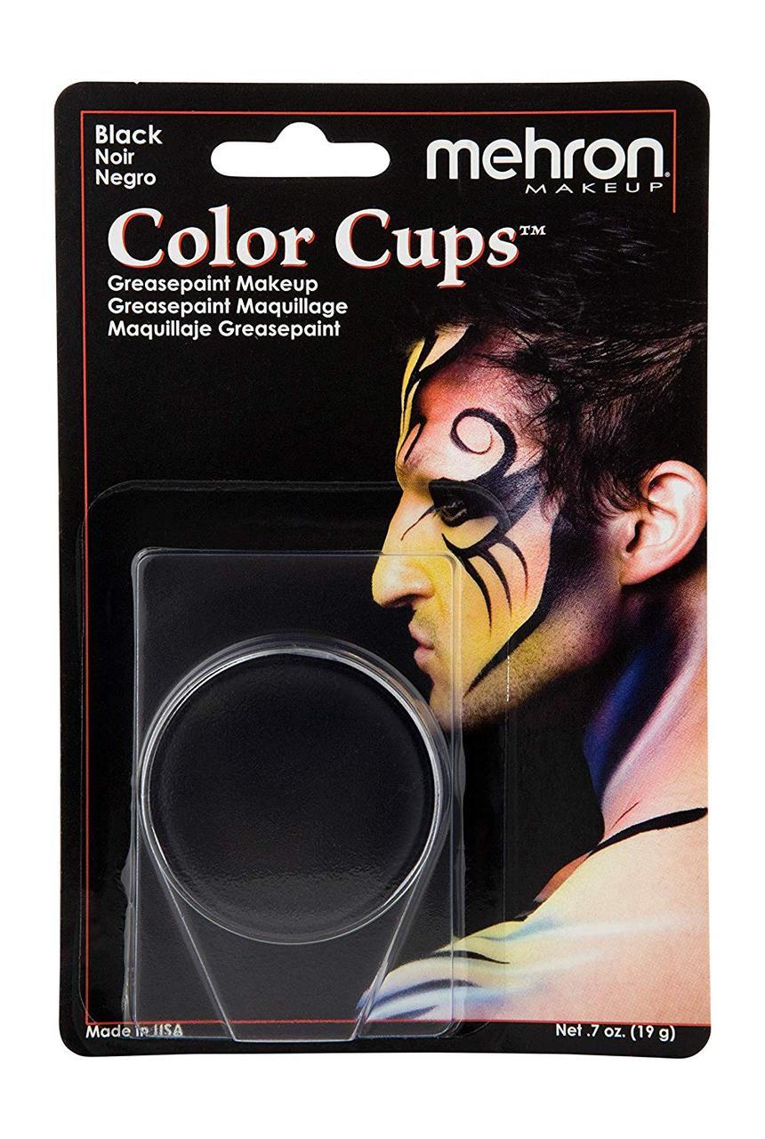 MEHRON Кремовый грим Color Cups, Black (Черный), 12 г