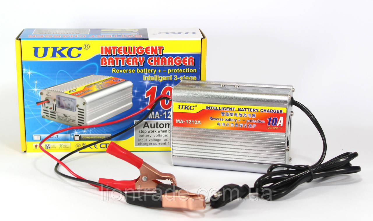 Зарядное устройство для автомобиля 12 вольт 10 ампер, UKC Battery Charger 10A