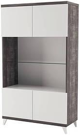 Витрина Тревизо 2Д 1726х1006х420мм финмарк серый/белый глянец Світ Меблів
