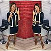 """Стильный костюм платье с пиджаком норма + батал  """"Диогональка"""" Dress Code"""