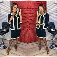 """Стильный костюм платье с пиджаком норма + батал  """"Диогональка"""" Dress Code, фото 1"""