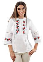 Белая вышиванка женская льняная (размеры S-3XL)