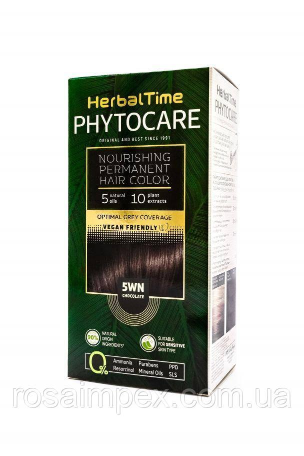 5WN Шоколад Стойкая питательная краска для волос Herbal Time PHYTOCARE