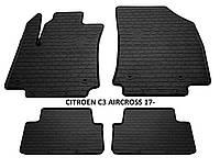 Резиновые автомобильные коврики в салон CITROEN C3 AIRCROSS 2017 ситроен ц3 Stingray