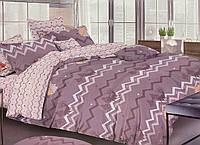 Сатиновое постельное белье двуспальное евро 200*220 (13954) хлопок 100% KRISPOL Украина