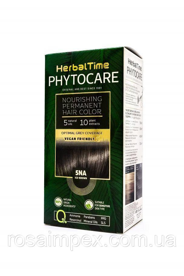 5NA Холодный коричневый Стойкая питательная краска для волос Herbal Time PHYTOCARE