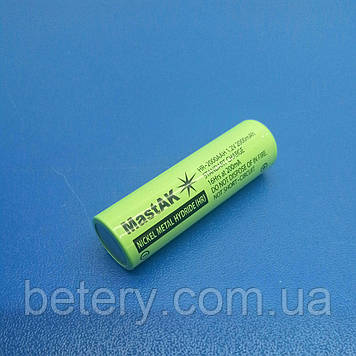 Акумулятор технічний MastAK HR-2000 AAH ( 1,2 V 2Ah MH )