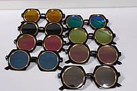 Стильные солнцезащитные детские очки в черной оправе 1 шт