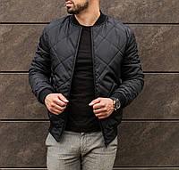 Куртка мужская весенняя осенняя | бомбер стеганый в ромб ЛЮКС качества